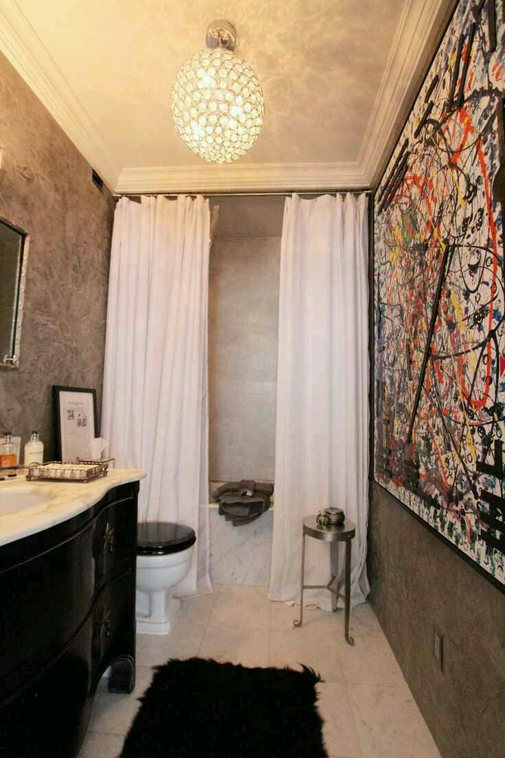 Tuesday's Tips: curtain panels for bathroom showers ...