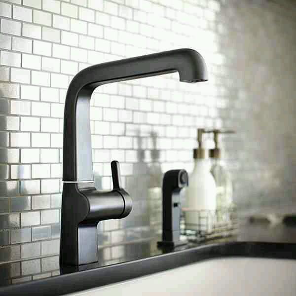 Sleek black matte faucets and fixtures